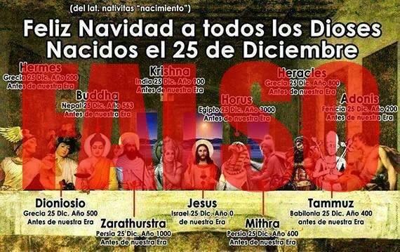 navidad Dioses FALSO