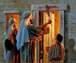 noche de pesaj en egipto sangre del cordero puertas