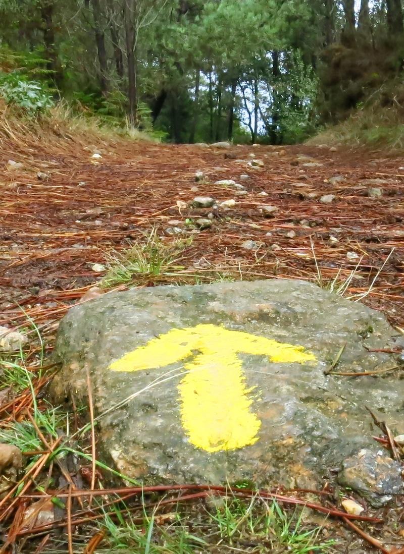 Flecha-amarilla-roca-Camino