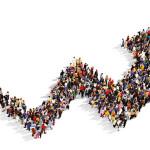 Sorprendente simulación del aumento de la población mundial